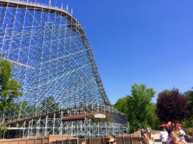 Voyage Wooden Roller Coaster Holiday World Indiana