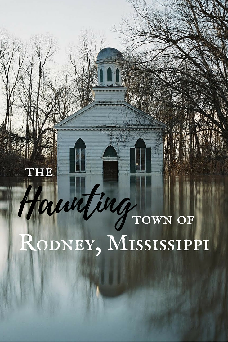 A Southern photographer's haunting images from a bridal shoot and seasonal flood portray her intimate connection with the ghost town of Rodney, Mississippi. #travel #TBIN #VisitMS #ghosttowns #mississippidelta