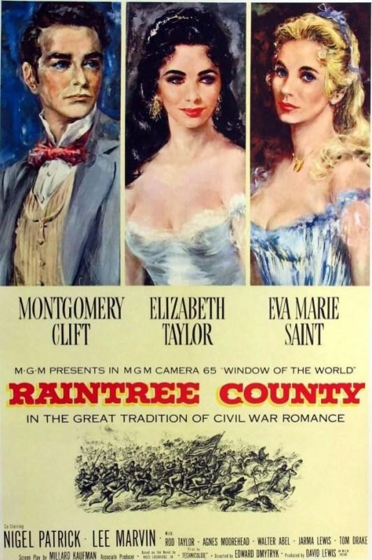 Raintree County movie poster