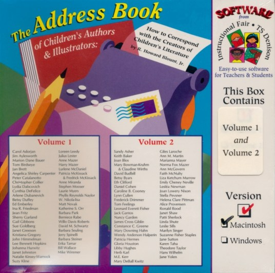 The Address Book of Children's Authors and Illustrators Software Front Howard Blount