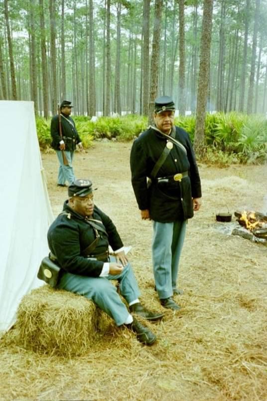 Olustee Battle Reenactment Florida Massachusetts 54th