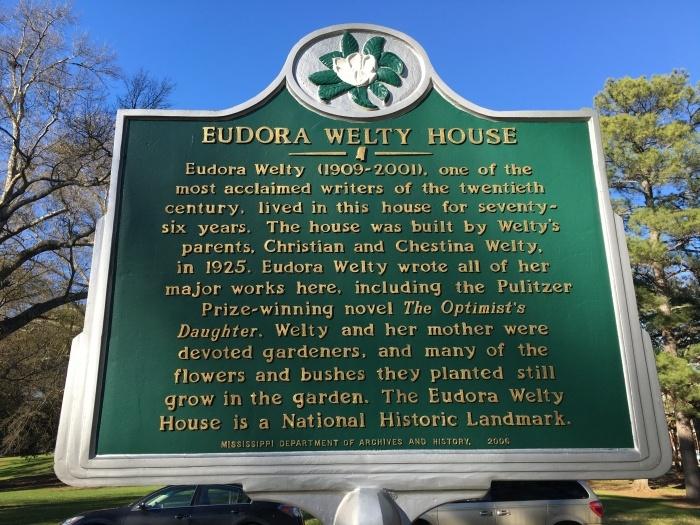 Eudora Welty Home Garden Jackson Mississippi Historical Marker