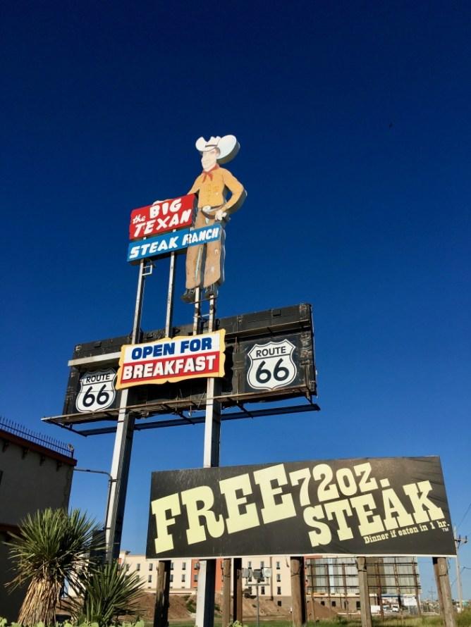 Big Texan Amarillo Texas Billboard Signs