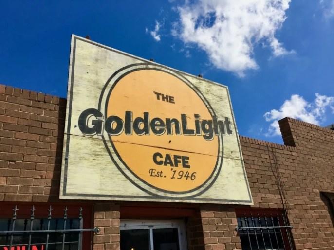 GoldenLight Café Sign