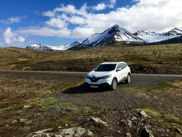 Car Mountain Road Iceland