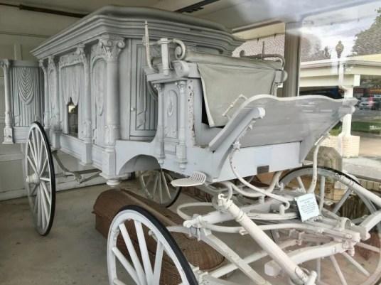 Vintage White Hearse