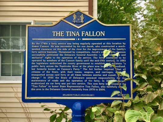 Tina Fallon historical marker