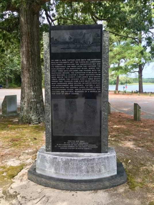 Phillips Landing monument Delaware