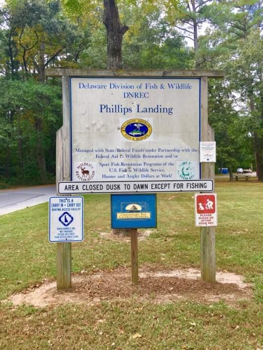Phillips Landing sign Delaware