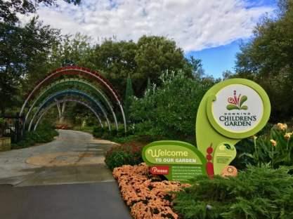 Botanica Downing Children's Garden sign