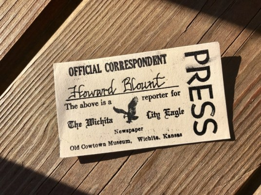 vintage press card