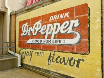 vintage Dr. Pepper sign