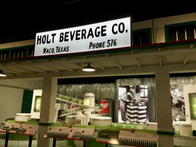 Holt Beverage Company sign and exhibit