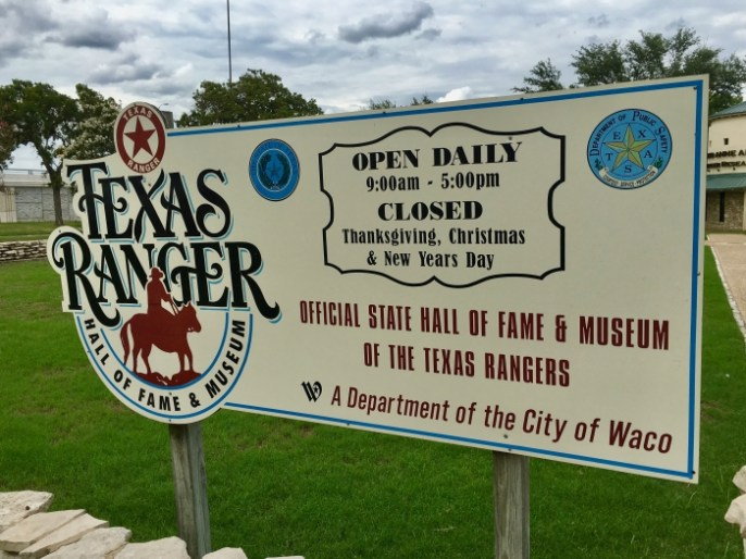 Texas Ranger Hall of Fame sign