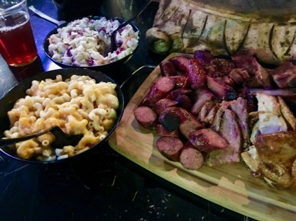 BBQ, mac & cheese, cole slaw