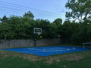 blue basketball court