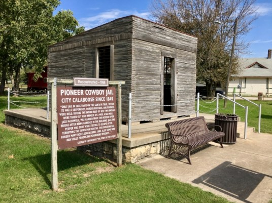 Pioneer Cowboy Jail calaboose Council Grove, Kansas