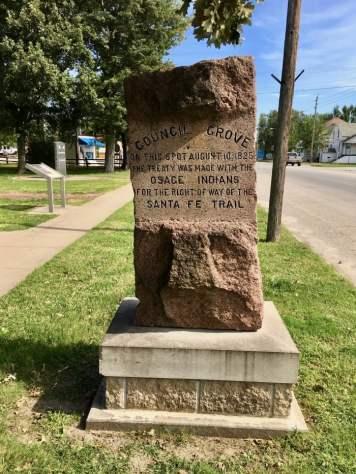 Council Grove marker