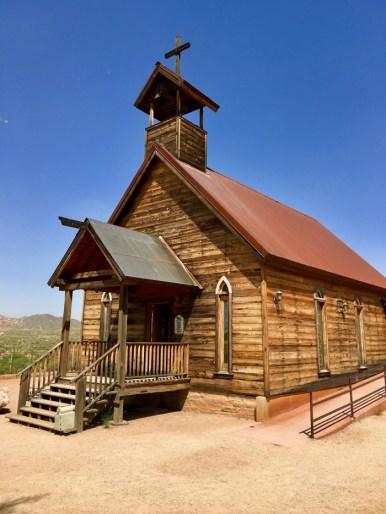 church at Goldfield Ghost Town Arizona