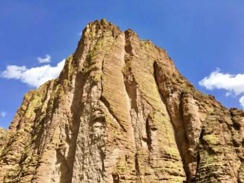 cliff over rock Canyon Lake Arizona