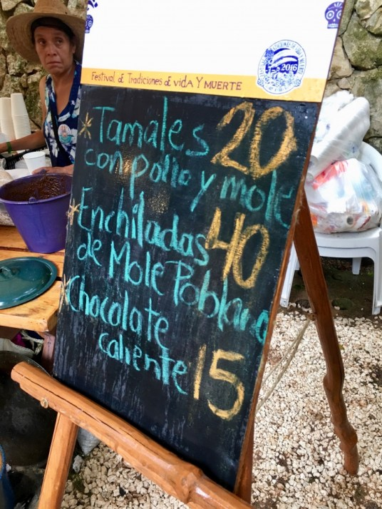 Mexican food menu chalkboard