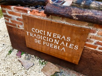 traditional Puebla cooking sign