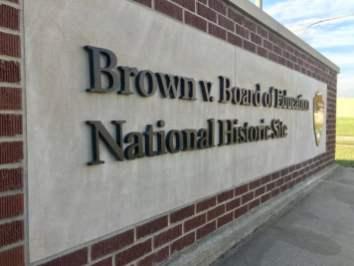 Brown Board Education NPS Site Topeka marker