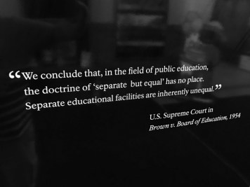 Brown Board Education NPS Site Topeka quote