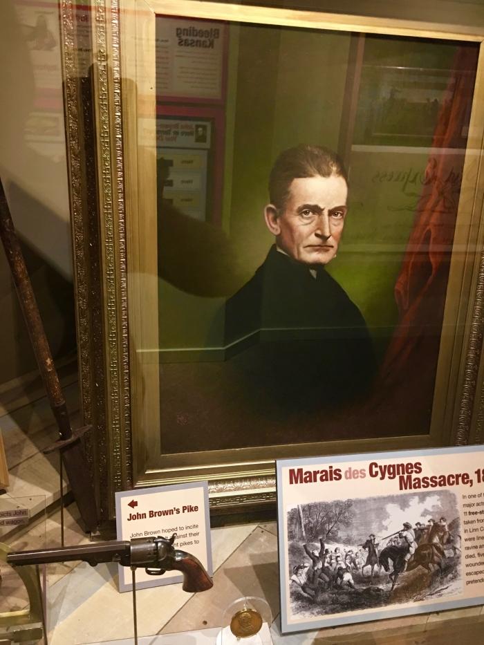 Kansas Museum of History John Brown painting pike