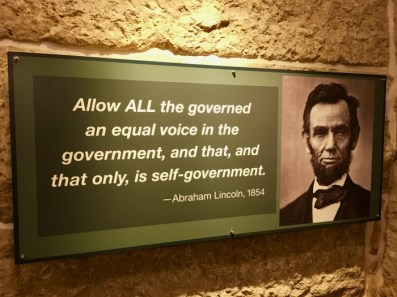 Kansas State Capitol Abraham Lincoln quote - Explore Civil Rights History in Topeka, Kansas: 5+1 Key Sites
