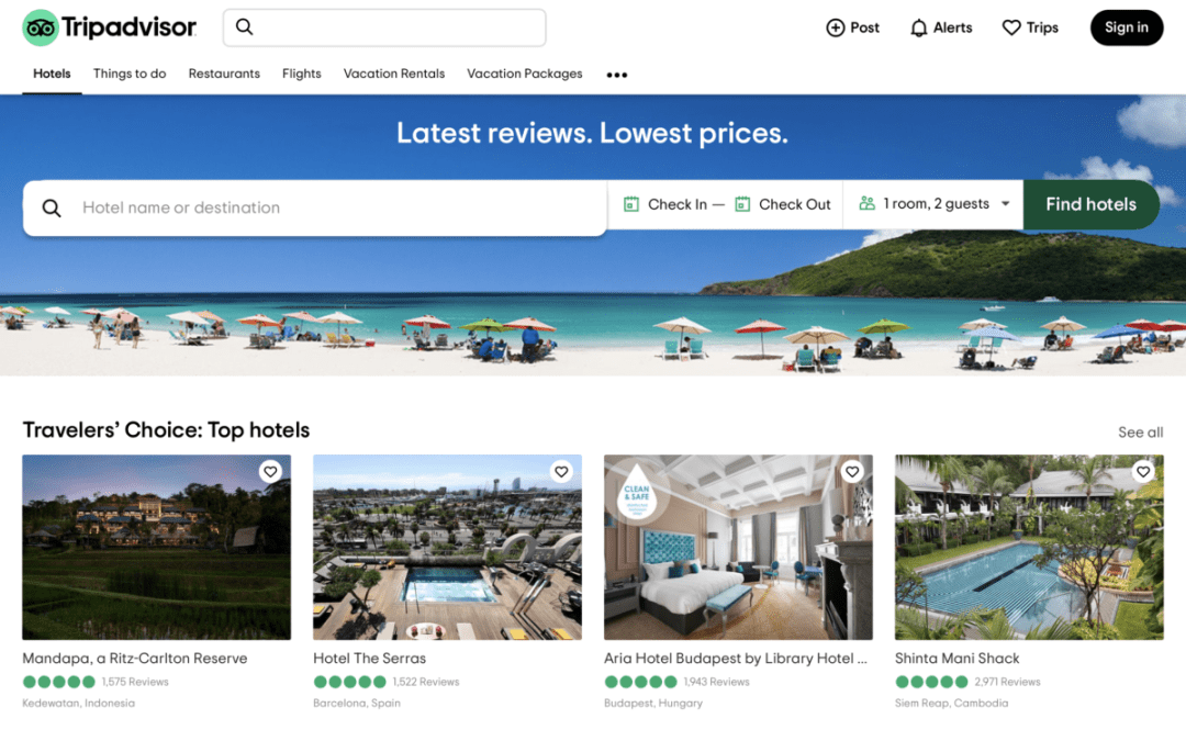 TripAdvisor Screenshot - How to Find Unique Sites for Your USA Road Trip Itinerary