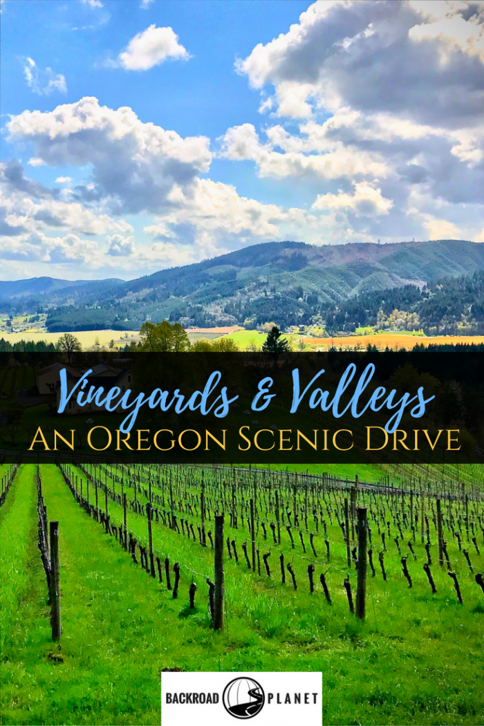 An Oregon scenic drive through the Tualatin Valley features pastoral landscapes, farms, wineries, historical sites, taverns, and a national wildlife refuge.