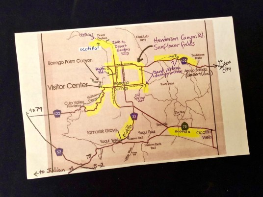 Anza Borrego Map 1321 - Wildflower Chasing at Anza-Borrego Desert State Park California