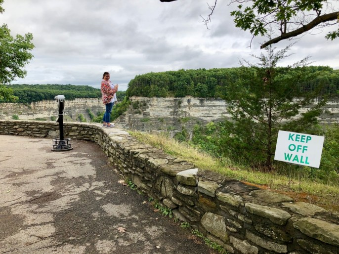 woman on wall - Things to Do in Letchworth State Park