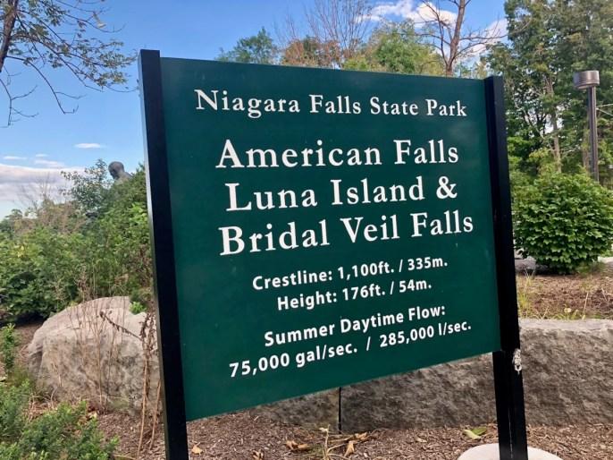American Falls sign - 3 Awe-Inspiring Niagara Falls USA Attractions