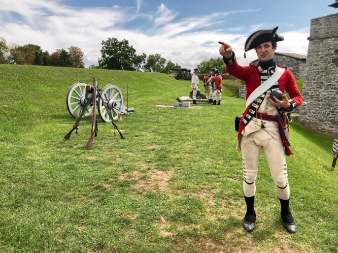 British redcoat pointing