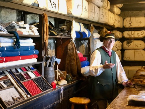 living history shopkeeper in costume
