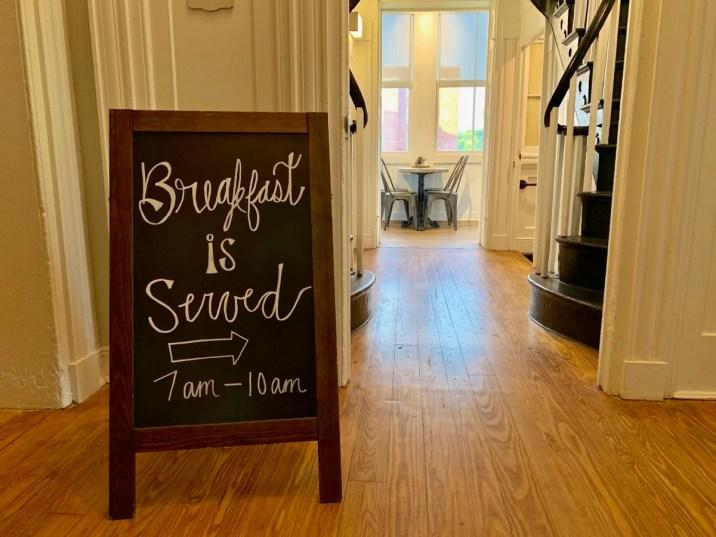 Blackburn Inn Breakfast Sign