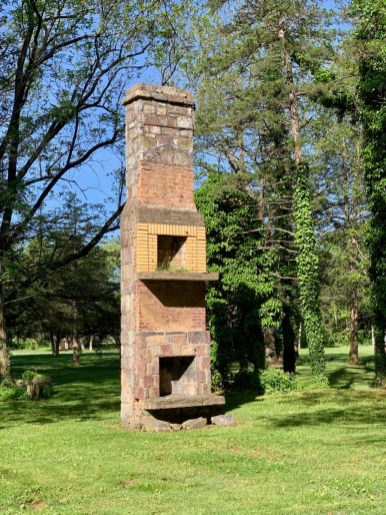 Double Stone and Brick Chimney