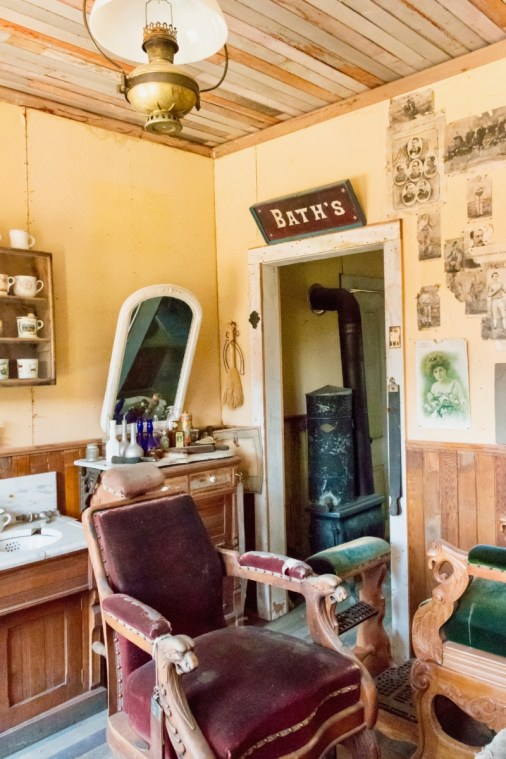 old-fashioned barber chair