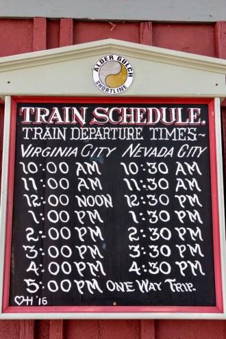 train schedule chalkboard