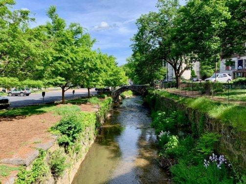 Lewis Creek flows through Staunton Virginia