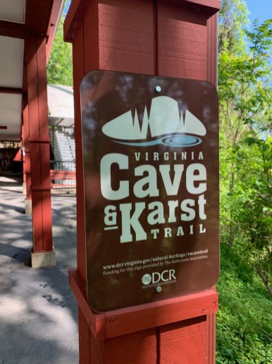 Virginia Cave Karst Trail Sign - Fun Things to Do in Staunton Virginia
