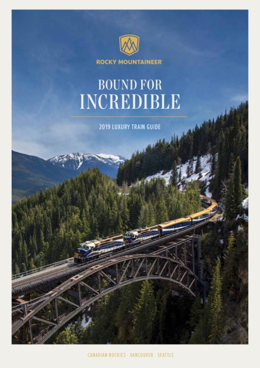 2019 Rocky Mountaineer Train Brochure