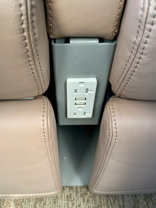Rocky Mountaineer Train Electrical Outlets