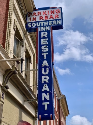 Southern Inn Restaurant Neon Sign - Scenic & Historic Things to Do in Lexington, Virginia