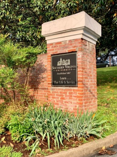 Southern Virginia University Sign