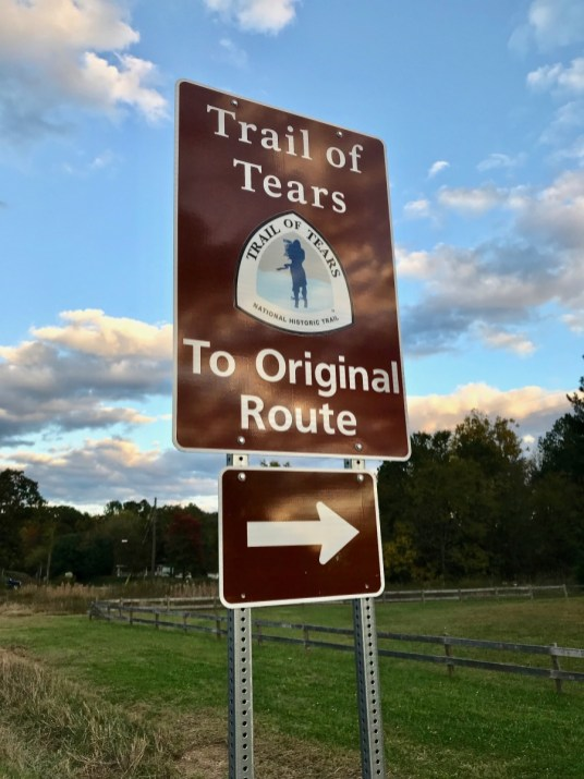 Trail of Tears Road Sign