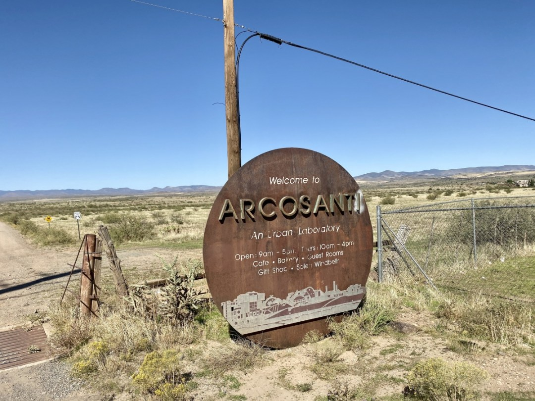Arcosanti Sign - Things to Do on a Drive from Phoenix to Flagstaff, Arizona