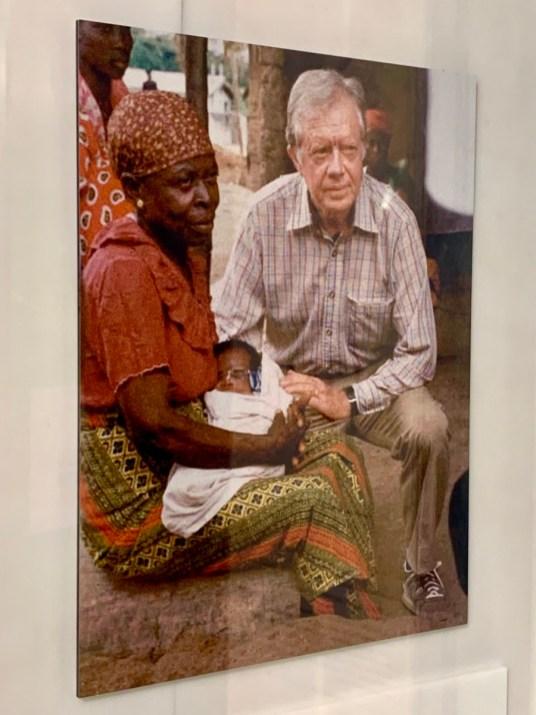 CDC Jimmy Carter with African Woman and Baby